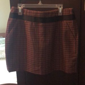 The Limited fall plaid skirt